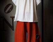 Linen Poppy pants
