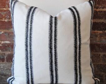 Paloma Stripe Pillow Cover - Ebony - decorator pillow - designer pillow