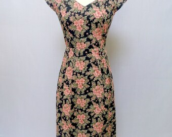 Floral Print Dress - Vintage Style - Floral Dress - 1950s