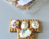 Mini Bite Sized Puptarts peanut butter cookies   - All Natural Dog Treats - 12 mini poptarts per order - gourmet dog
