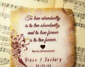 Stone Wedding Gifts - Wedding Coasters, To Love Abundantly, Set of 4 Personalized Wedding Coasters for Couples, Wedding Registry
