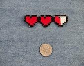 Legend of Zelda Heart Meter Iron On Patch