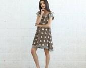 Summer Sale Sheer Polka Dot dress, Gray