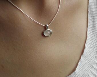 rose quartz pendant in silver 925
