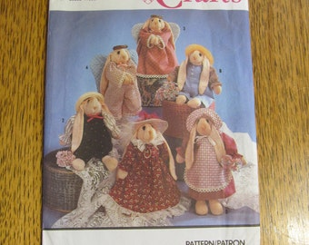 ADORABLE Sock Bunny & Clothes - Heavenly EASTER Angel Rabbit - UNCUT Vintage Sewing Pattern Simplicity 7421
