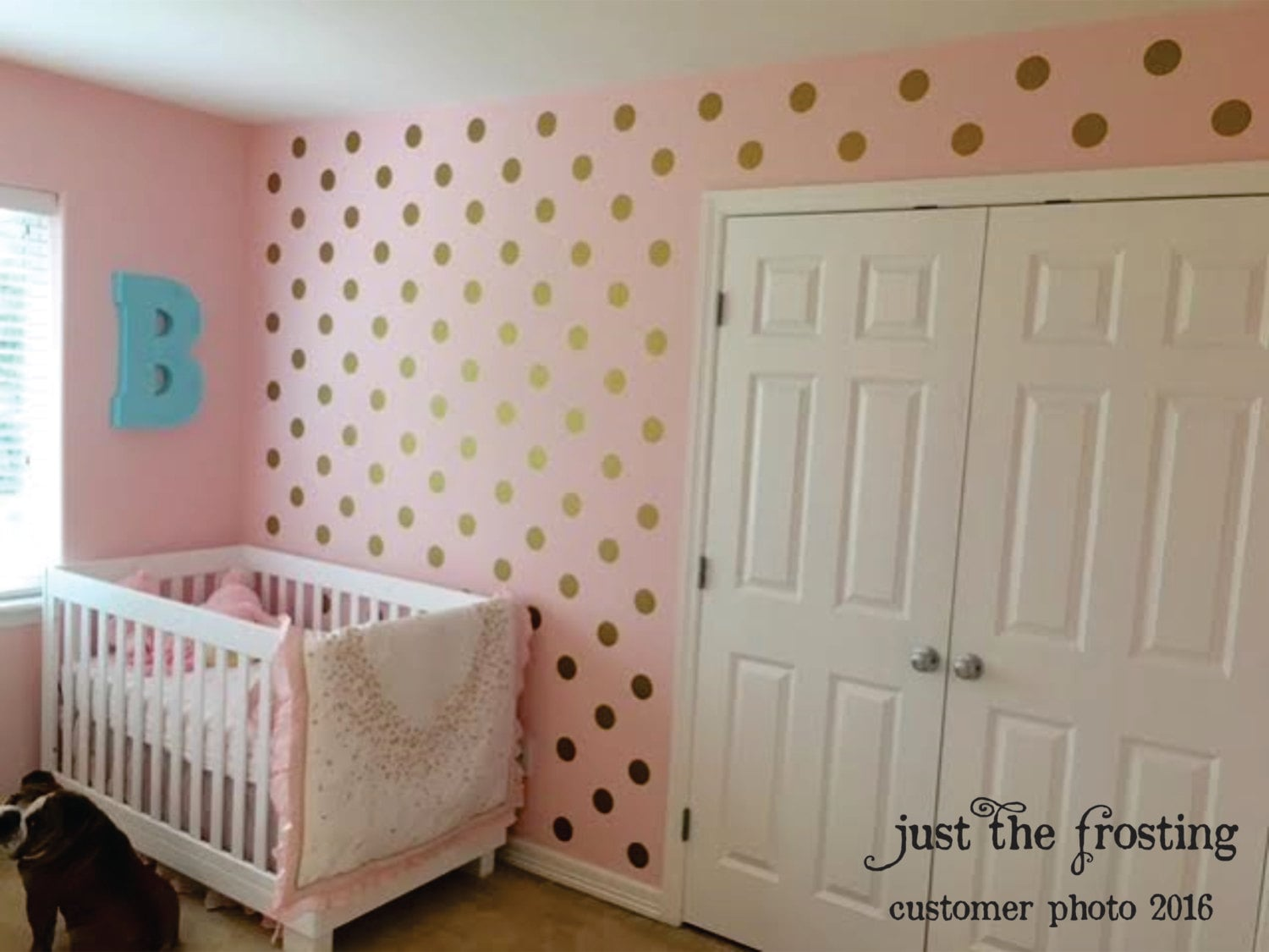 polka dot wall decals gold wall decal gold dot decals. Black Bedroom Furniture Sets. Home Design Ideas