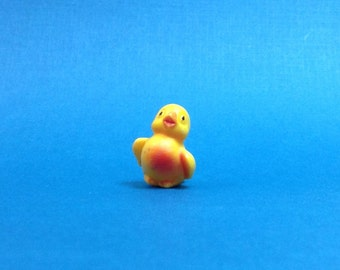 Tiny Hard Plastic Chick Baby Bird Miniature Nesling