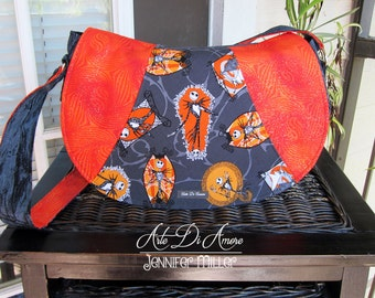 Rosie Shoulder Bag: Skeleton Print