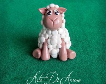 Sheep Cake Topper Figurine