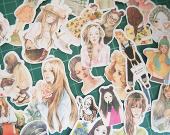 Lovely Girls Deco Sticker (33 pcs)