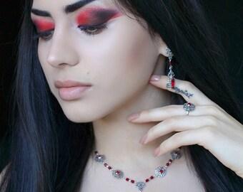 Vampire Gothic Jewelry Gift Set - Medieval Goth Set - Victorian Gothic