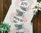 Choose Your Own Word Print - Hand Drawn Succulent Series - 8x10, 11x14, 16x20