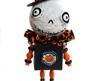 Halloween Art Doll - Halloween Skelly - Spooky Art Doll - Spooky Skelly Doll