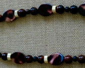 Brown Shell and Gold Accents Necklace
