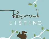 Reserved Listing for Emily Liebert