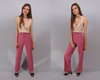 Vintage 70s High-Waist Levis Pants, Wide-Leg Pants, Boho Pants, Hippie Pants, 70s Trousers Δ size: xs / sm