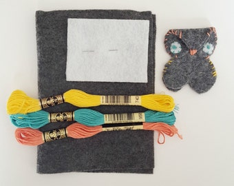 Owl Bookmark Kit | Embroidery Kit | Sewing Project | Pattern | Crafts for Kids | Craft Kit