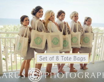 Bridesmaid Tote Bags, Gift bags, Bridesmaid bags,in 60 colors to chose from by Modern Vintage Market