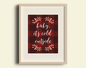 Buffalo Plaid | INSTANT DOWNLOAD | 8 x 10 | Christmas Winter Decor | holiday typography digital print printable decor cozy holiday