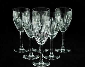 "Vintage Waterford Irish Crystal ""Carina"" Claret Wine Glasses - set of 6"