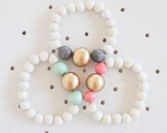 Wood Bead Bracelet, Beaded Bracelet, Beaded Jewelry, Wood Bead Jewelry