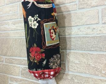 Frida Kahlo bag dispenser, Frida bag holder, Kitchen bag organizer