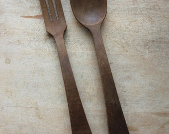 wood salad servers / made in France