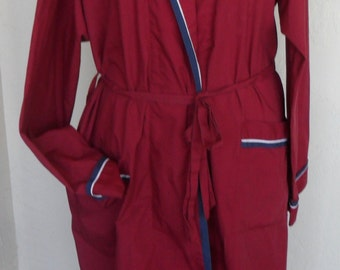 """Vintage Men's Robe """"After Hours"""" by Diplomat Medium Red"""