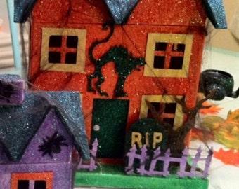 Halloween Glitter House - Large
