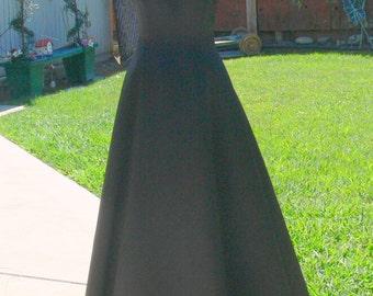 michaelingela long blackprom dress size med 9-10
