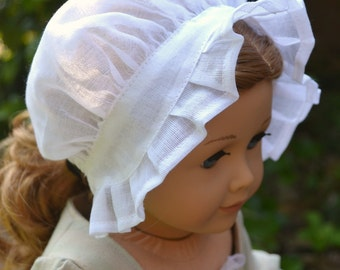 Doll Bonnet Hat Colonial Day Cap for American Girl