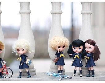 Miss yo 2016 Summer & Autumn - School Uniform Set for Blythe / JerryBerry doll - dress / outfit