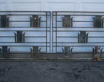 antique salvage art deco iron windows,reclaimed sash transom window panels,vintage mediterranean transom window panels