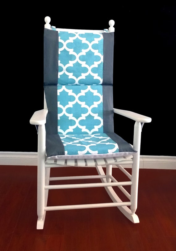 on sale rocking chair cushion cover fynn spirit blue grey. Black Bedroom Furniture Sets. Home Design Ideas