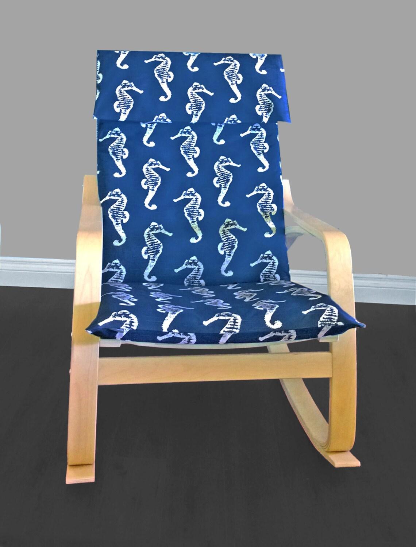 Ikea Algot Wall Upright Shelves ~ IKEA POÄNG Cushion Slipcover Navy Seahorse by RockinCushions