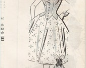 Beautiful Unused Vintage 1960s Parade Mail Order 1-492 Petal Drop Waist Full Skirted Cocktail Evening Dress Sewing Pattern B34