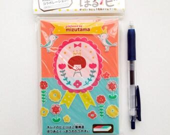 japanese rubber stamp block. hand carved rubber stamp. stamp carving. stamp making. block printing. scrapbooking. half A6. soft. orange/blue
