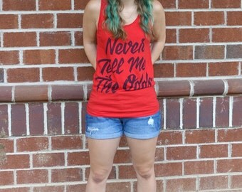 Never Tell Me the Odds Tank Top | Red Han Solo Shirt