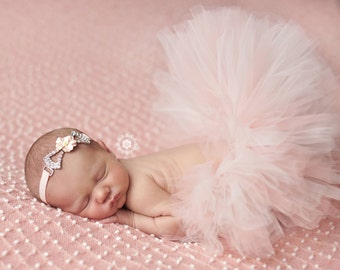 Newborn Tutu Baby Tutu Sweet Magdelina Tutu Set In Peaches And Cream Newborn Tutu Set Stunning Newborn Tutu Photo Prop
