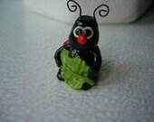 Miniature  Ladybug, Ladybug Figurine, Ladybug Ornament , Terrarium Decor ,  Polymer Clay Bugs , Home  Decor, Clay Figurine