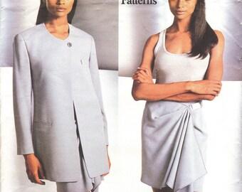Donna Karan jacket & wrap skirt pattern -- Vogue American Designer 1440