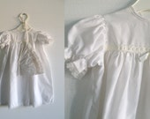 White Christening Gown and Bonnet -