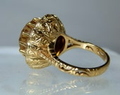 Antique Gold Ring Citrine Quartz and Diamond Ring jewelry 19k Yellow Gold Fine Quality Vintage 800 Gold Antique Portuguese DanPickedMinerals