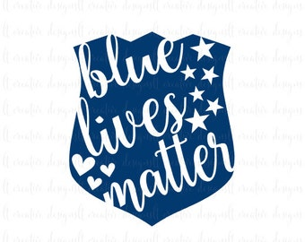 Blue Lives Matter SVG, Police Badge SVG, Police Support SVG, Svg files, Silhouette Files, Cricut Files, Eps Files