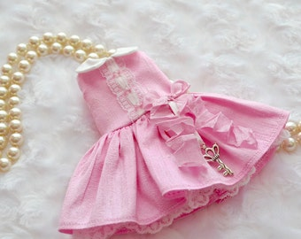 BLYTHE Dress  *Key to my Heart* in Cotton Candy Silk  by Sweet Petite Shoppe