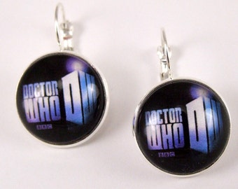 Dr. Who leverback earrings