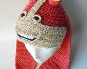 Crochet inspired character hat-newborn to adult - jar jar binks inspired