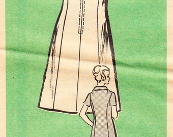 1970s Misses Princess Seamed Sleeveless Dress with Collar - Vintage Progressive Farmer Mail Order Pattern 9028 -  Size  36 Bust