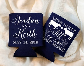 Party Till The Cows Come Home Wedding Favors, Bridal Shower Gifts, Till the Cows Come Home Wedding Gift, Anniversary Party Favors, 1283