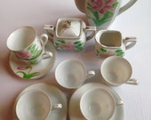 Charming Little Tiger Lily After Dinner Coffee Set
